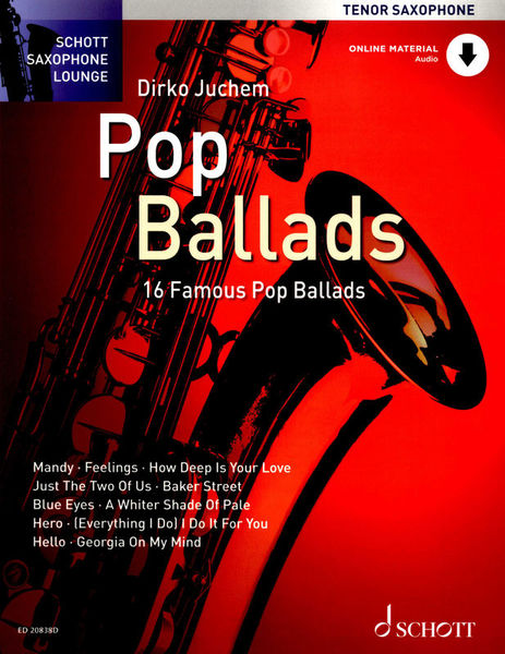 Schott Pop Ballads for Tenorsax