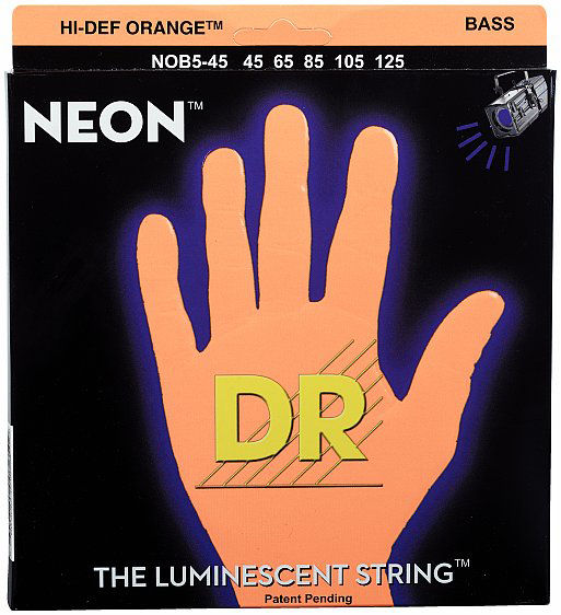 DR Strings HiDef Neon Orange NOB-5-45