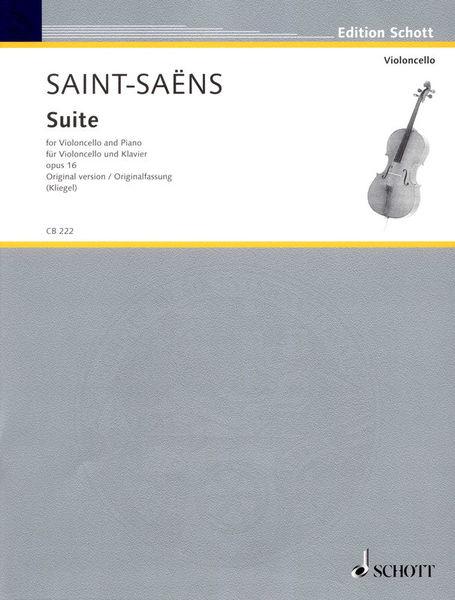 Schott Saint-Saens Suite Cello