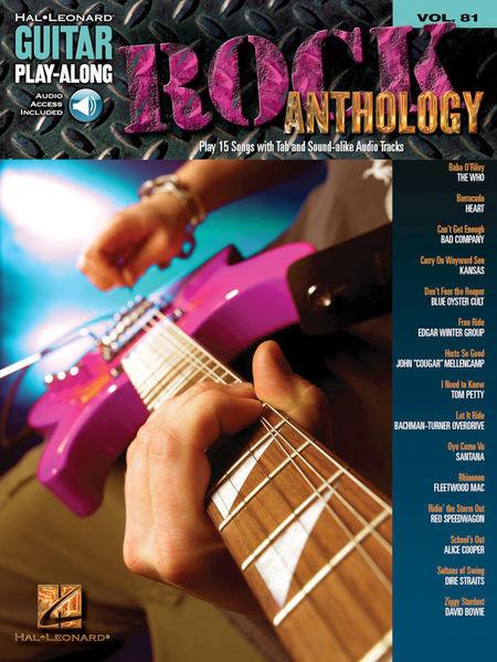 Hal Leonard Guitar Play-Along Rock Anth.