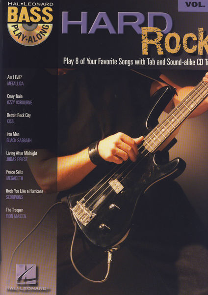 Hal Leonard Hard Rock Bass Play Along