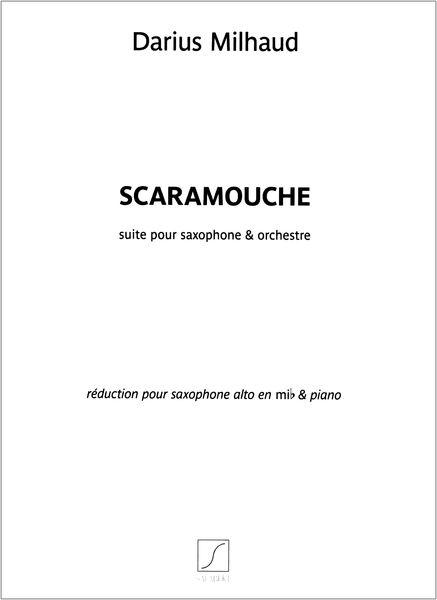 Editions Salabert Milhaud Scaramouche A-Sax