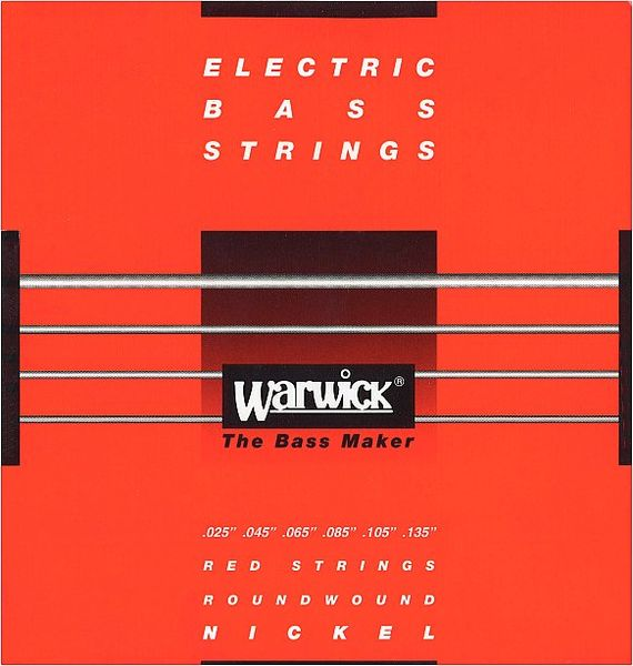 Warwick 46401 Red Strings Nickel