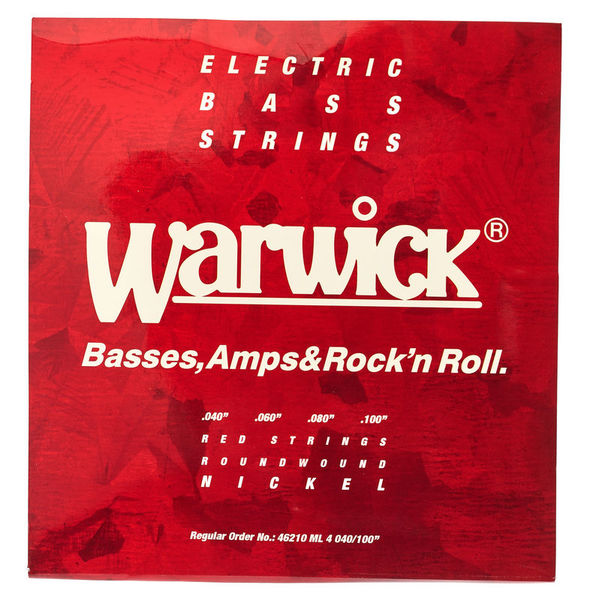 Warwick 46210 Red Strings Nickel
