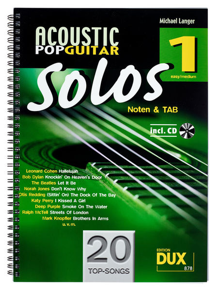 Acoustic Pop Guitar Solos 1 Edition Dux