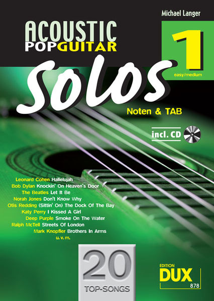 Edition Dux Acoustic Pop Guitar Solos 1