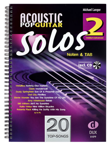 Edition Dux Acoustic Pop Guitar Solos 2 – Thomann UK
