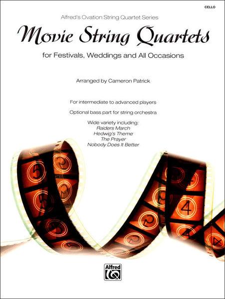 Alfred Music Publishing Movie String Quartets Cello