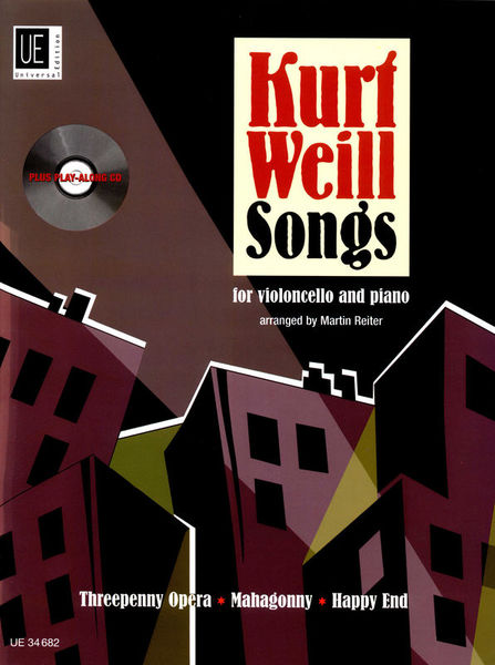 Universal Edition Kurt Weill Songs Cello