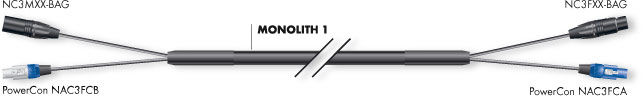Sommer Cable Monolith 1 Powercon/XLR 2,5M