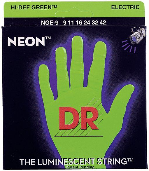 DR Strings HiDef Neon Green Lite NGE-9