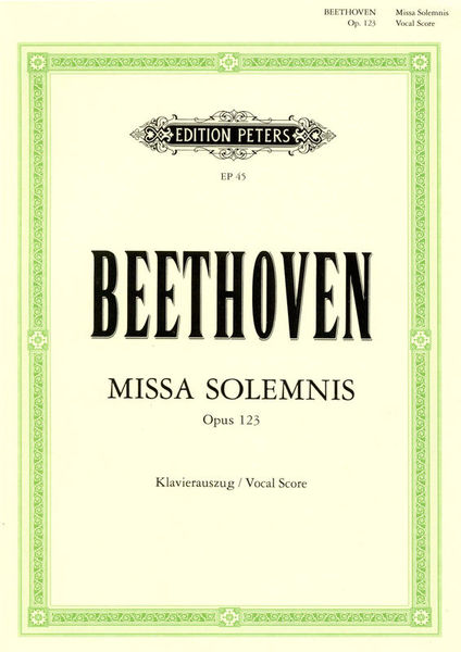 Edition Peters Beethoven Missa Solemnis