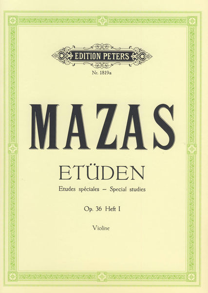 Edition Peters Mazas Etüden op.36 Heft 1