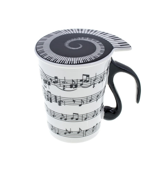 "Music Sales Cup with Lid ""Staff Lines"""