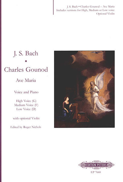 Edition Peters Bach Gounod Ave Maria Voice