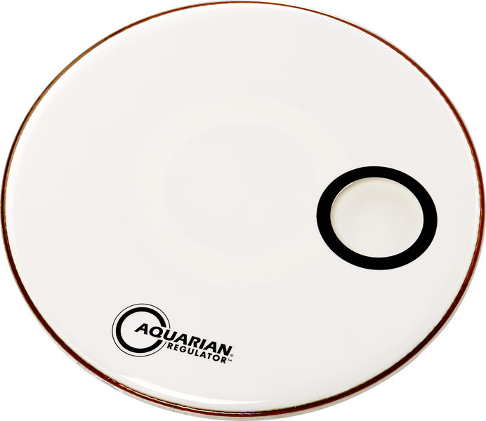 "Aquarian 22"" Regulator White Bass Drum"