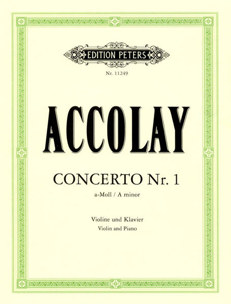 Edition Peters Accolay Concerto Nr.1 Violin
