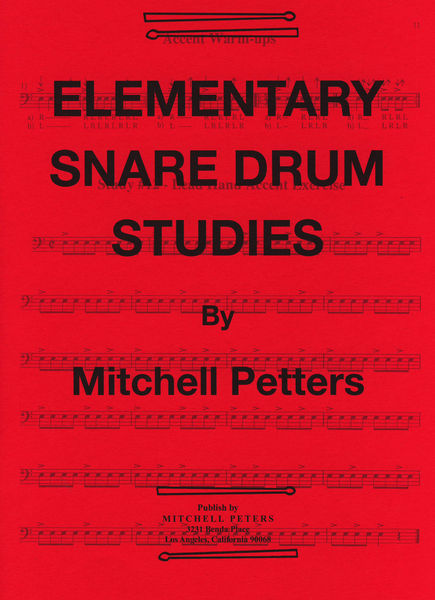 Mitchell Peters Elementary Snare Drum Studies