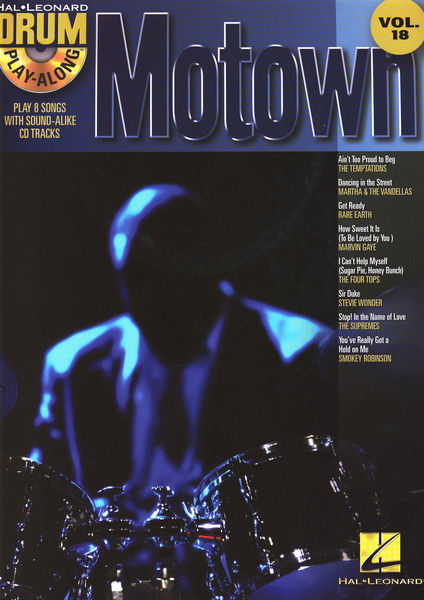 Hal Leonard Play Along Drum Motown