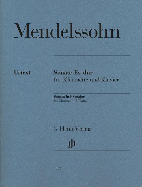 Henle Verlag Mendelssohn Sonata Eb major Cl