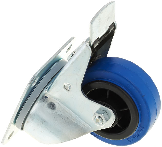 Blue Wheel Braked 80mm Millenium