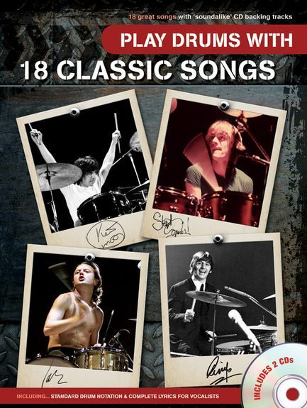 Wise Publications Play Drums 18 Classic Songs