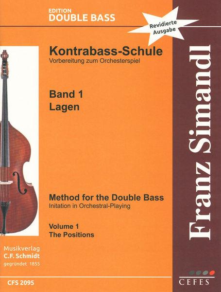 C.F. Schmidt Musikverlag Simandl Method Double Bass 1