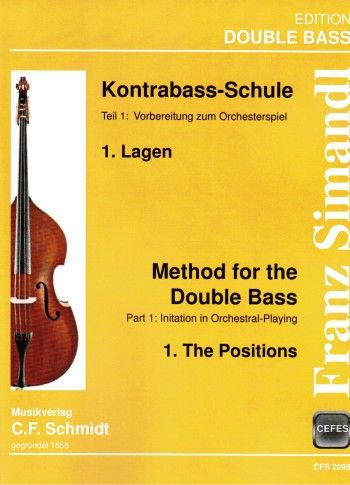 C.F. Schmidt Musikverlag Simandl Method Double Bass 1