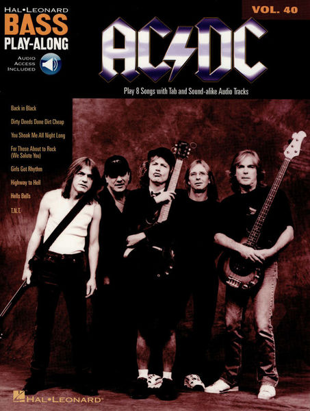 Hal Leonard Bass Play-Along AC/DC