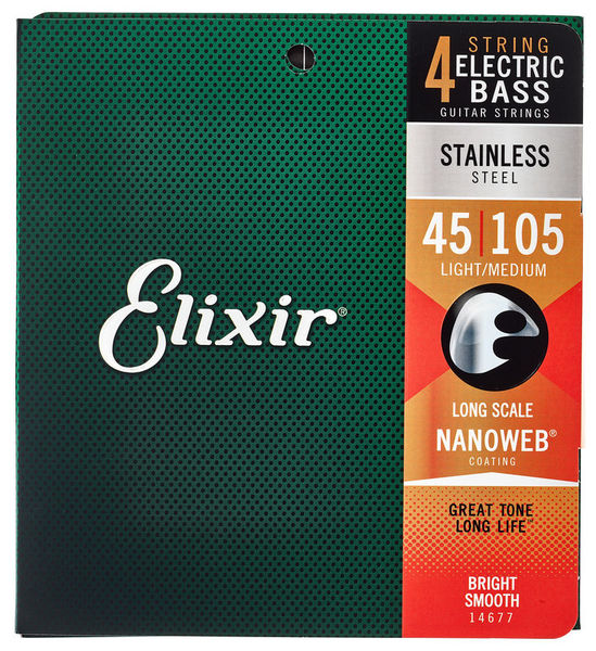 Elixir 14677 Stainless Steel L/M Bass