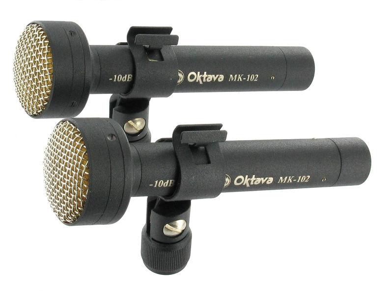 Oktava Mk 102 MSP2 Black Stereo Pair