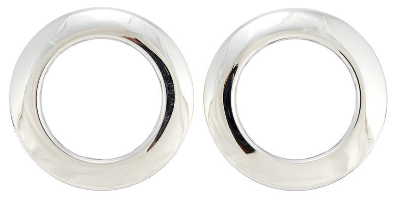 "Bass Drum O's 2"" Chrome round HC2"