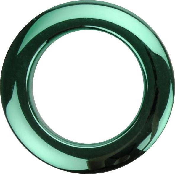 """Bass Drum O's 2"""" Green chrome round HCG2"""