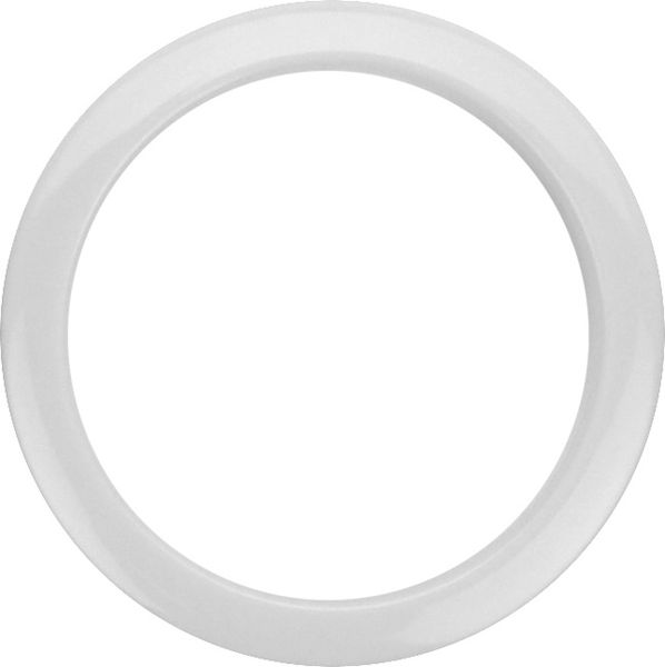 "Bass Drum O's 4"" White round HW4"