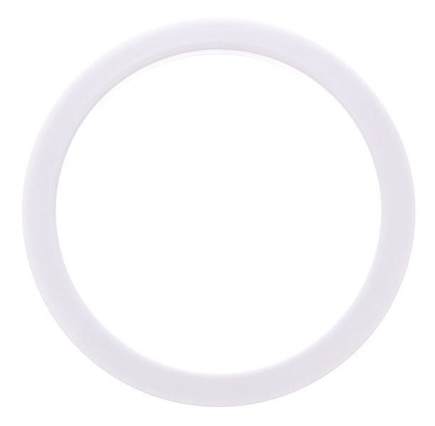 "Bass Drum O's 5"" White round HW5"