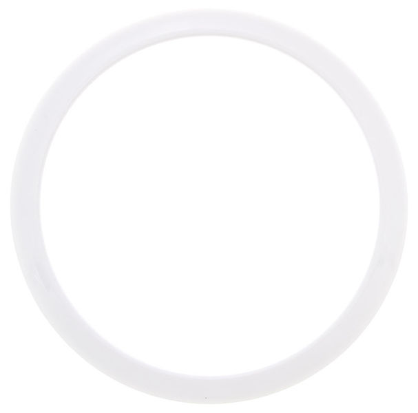 "Bass Drum O's 6"" White round HW6"