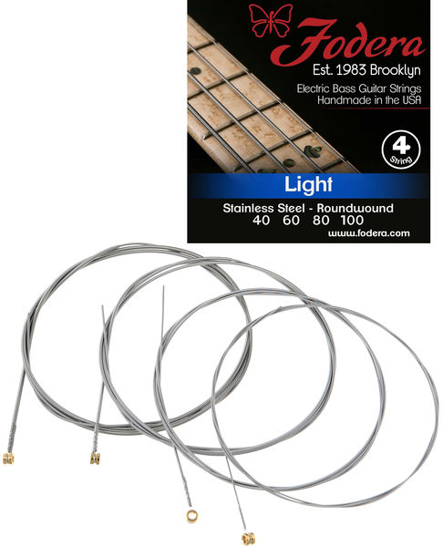 Fodera 4-String Set Light Steel