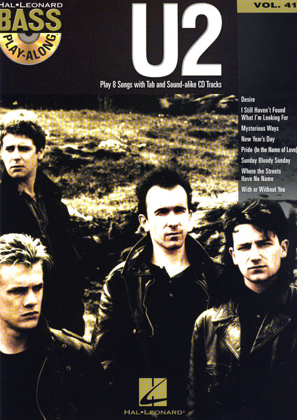 Hal Leonard Bass Play Along U2 Vol.41