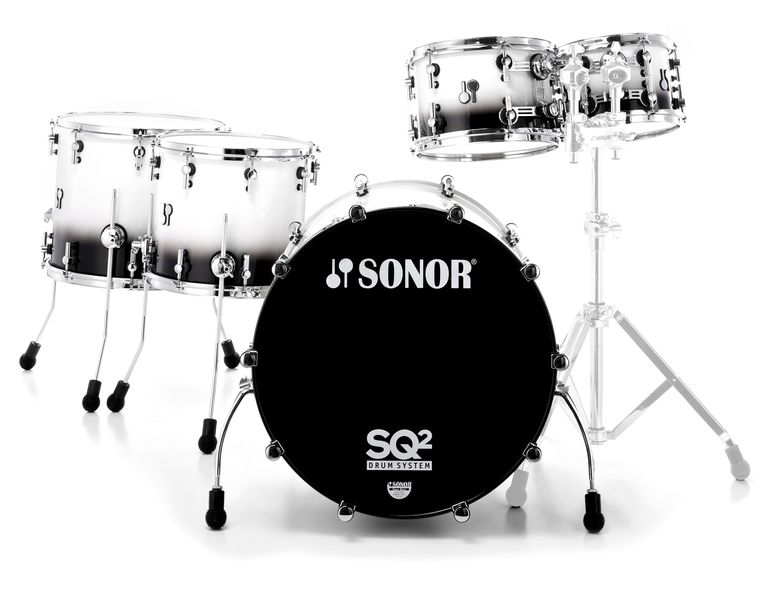 Sonor SQ2 Hyper Set Black and White