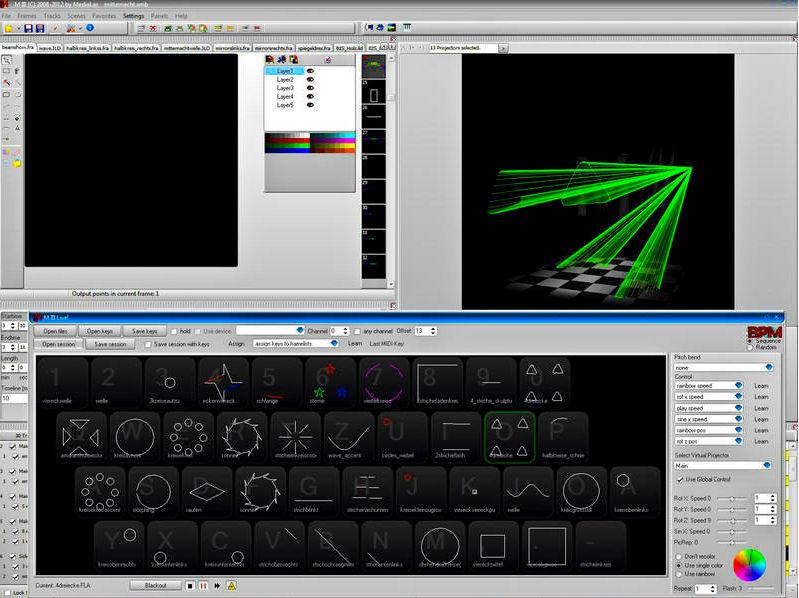 Medialas M III Lasershow Software