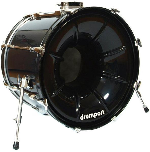 """Drumport 20"""" Megaport Booster Black"""