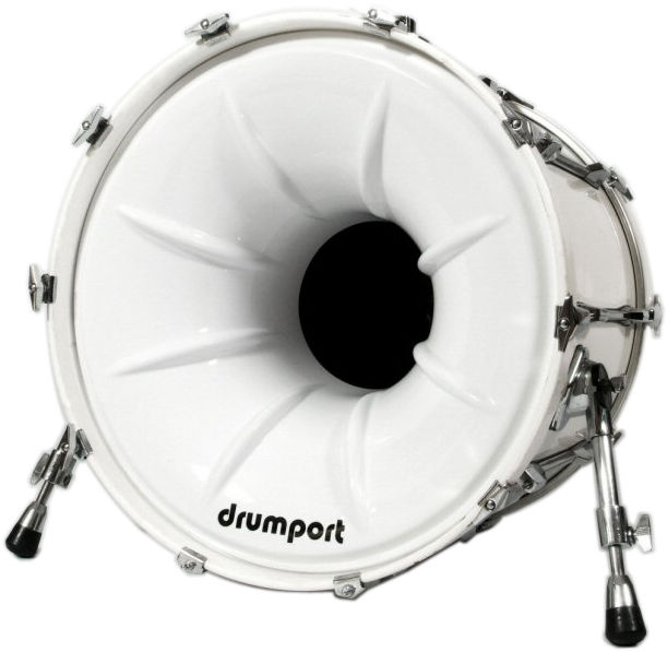 "Drumport 20"" Megaport Booster White"