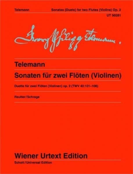 Universal Edition Telemann Sonatas Flutes Op.2