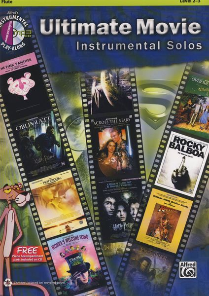 Ultimate Movie Solos Flute Alfred Music Publishing