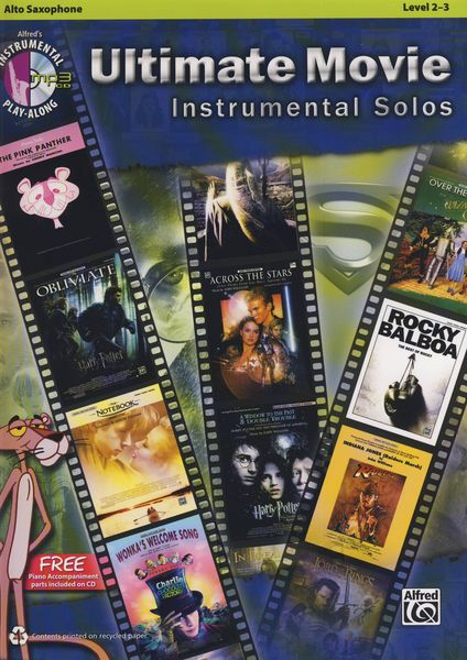 Ultimate Movie Solos A-Sax Alfred Music Publishing