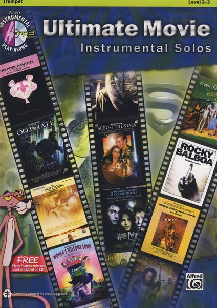 Ultimate Movie Solos Trumpet Alfred Music Publishing