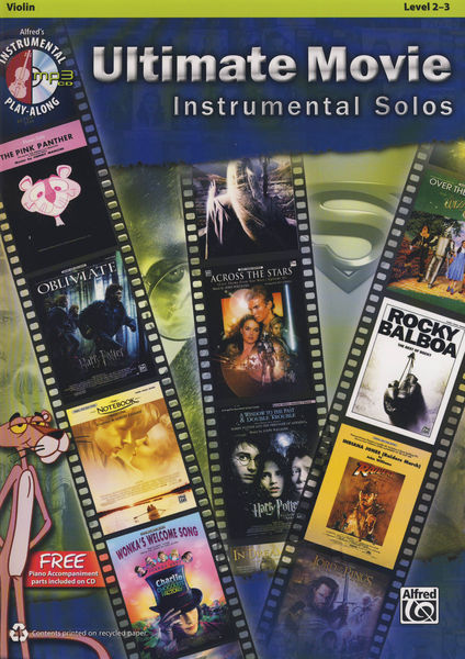 Ultimate Movie Solos Violin Alfred Music Publishing