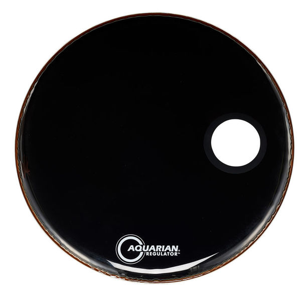 "Aquarian 24"" Regulator Black Bass Drum"