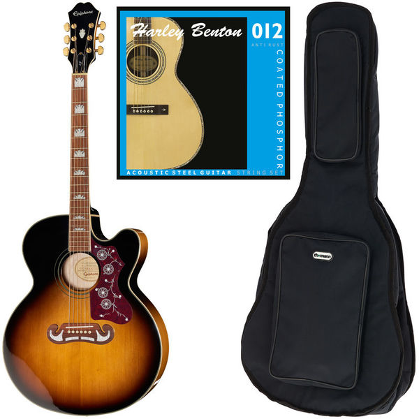 Epiphone EJ-200CE VS Bundle