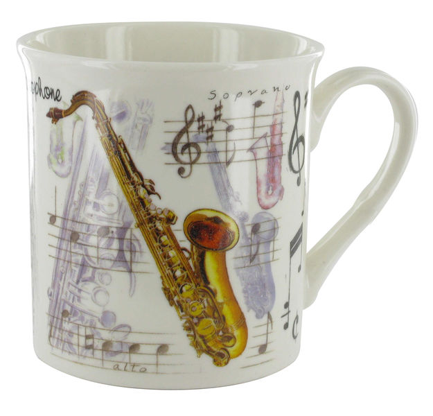 Music Sales Noble Coffee Mug Saxophone